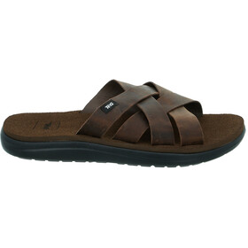 Teva Voya Slide Leather Sandals Men carafe